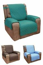 Recliner Chair Cover Protector With Pockets Reversible Quilted Microfiber Select