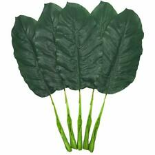 Fake Leaves 25'' Large Artificial Palm Leaves Banana Leaves Tropical Plant Green