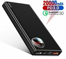 USB C Power Bank 20000mAh Quick Charge External Battery Xiaomi Portable Charger