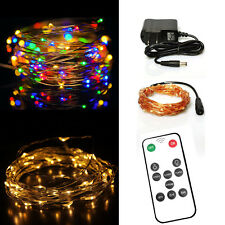 Dimmable Led String Lights 33FT 100LED Copper Wire Starry String Twinkle Lights