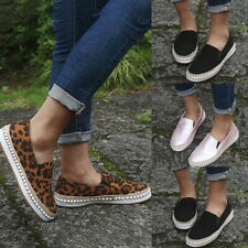 Fashion Women's Canvas Flat Shoes Slip On Pumps Casual Slip-on Shoes GIFT