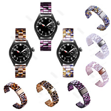 Tortoise Resin Wrist Watch Band Strap For Samsung Galaxy Watch Bracelets Bands