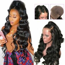 Lace Front Human Hair Wig Brazilian Glueless Body Wave Pre plucked Baby Hair Wig