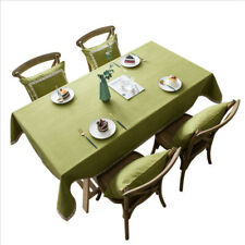 Tablecloth Heavy Weight Cotton Linen Fabric Dust-Proof Table Cover for Kitchen