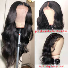 13*6 Lace Front Human Hair Wigs Brazilian Body Wave Wigs Pre Plucked Baby Hair