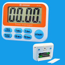 Kitchen 12 Hours Clock Loud Alarm Cooking Count-Down Up LCD Digital Timer