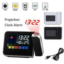 1pcs Digital Alarm Clock Snooze Weather Thermometer LCD Color Display LED