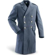 MENS WOOL MILITARY SWEDISH ARMY VINTAGE JACKET PEA-TRENCH COAT DOUBLE BREASTED