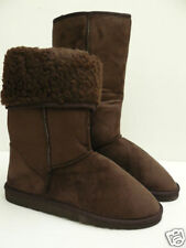LADIES BROWN FUR LINED MID CALF BOOT SIZE 3,4,5,6,7,8