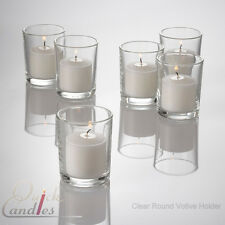 72 Votive Candles & 72 Holders. Choose from 26 Colors!