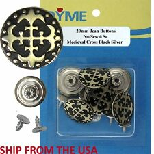 Various No-Sew 20mm Fashionable Jean Tack Buttons 6 Sets