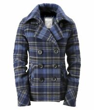 AEROPOSTALE PLAID PEA COAT WINTER JACKET XS,S,M,L,XL