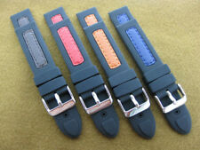 20mm Rubber Diver Strap Band for OMEGA Blue Orange Red