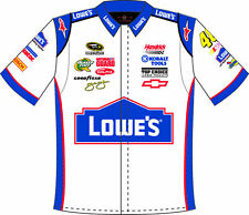 Jimmie Johnson Lowes White Adult Pit Shirt JJ0603LOW0