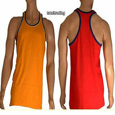 mens big size muscle vests body builder gym beach  top