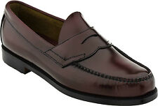 Bass Logan Mens Leather Burgundy Shoes D,B,EEE 7-13