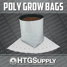 GROW BAGS HYDROPONICS CONTAINER POT POLY PLASTIC B&W