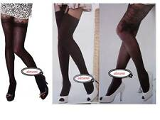 Mock Stockings Heart & Chain Suspender Patterned Tights