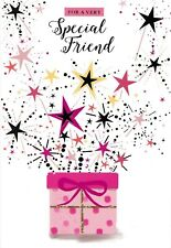 to a special friend birthday card cute / traditional female