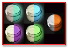 HALLOWEEN GLOW in the DARK 5 COLOR PAINT SET, GLOWING, UV, Black Light