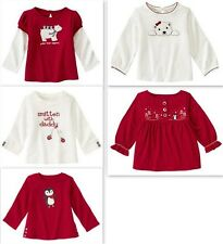 Gymboree Penguin Chalet Polar Bear, Smitten w/ Daddy..  Red White Tops Tees UPIC