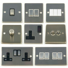 G&H Brushed Steel Light Switches, Sockets & Dimmers