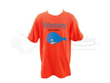 Personalised Childrens/Kids T-Shirt- Whale Design