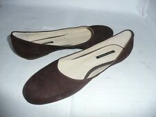 TONY BIANCO LADIES BROWN/BLACK SUEDE LEATHER FLAT SHOES