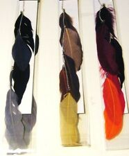 FEATHER HAIR CLIP EXTENSIONS VIBRANT DANGLING RETRO *** ASSORTED STYLES & COLORS