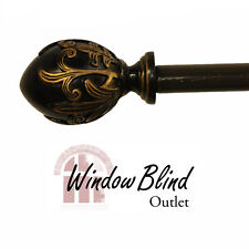 Window Blind Outlet Tongo Curtain Drapery Rod - Antique Bronze - FREE Shipping