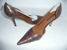TONY BIANCO LADIES BROWN LEATHER HIGH HEEL SHOES NEW