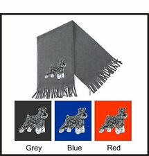 Miniature Schnauzer Scarf Embroidered by Dogmania