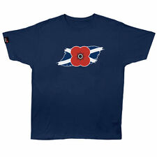 Poppy Scotland Saltire Poppy T-shirt Navy