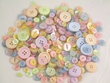 Mixed Assorted Pastel Coloured Buttons