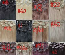 """Factory Outlet Price AAA+20""""~26"""" Remy Human Hair 17pcs Clips In Extensions 105g"""