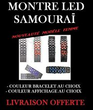 MONTRE WATCH BAND LED BRACELET ACIER  SAMOURAI LAVA COULEUR ICE MODELE FEMME