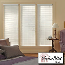 "Window Blind Outlet Premium Faux Wood Blinds 55 - 60""W x 49 - 60""L FREE Shipping"