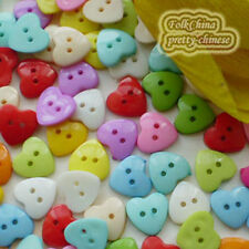 Assorted Heart 15mm Plastic Buttons Sewing Scrapbooking Cardmaking Craft