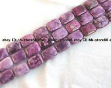 13x18mm 15x20mm 18x25mm China purple Jasper flat oblong loose Beads 15""