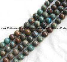 4mm 6mm 8mm 10mm 12mm 14mm 16mm 18mm blue multicolor Jasper round Beads 15.5''