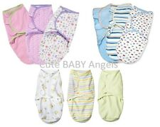 3 Pack SwaddleMe Blanket Baby Swaddling Sleep Bag Infant Wrap 7-14 Lbs 3 Choices