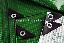 MEDIUM HEAVY DUTY MONO COVER WATERPROOF TARPAULIN GREEN OR CLEAR CAMPING MARKET