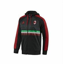 adidas AC MILAN 2011-2012 Full Zip Soccer Hooded Top Black/Red/Green Brand New
