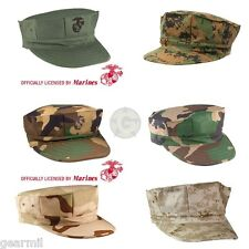Marine Corps Fatigue Cap USMC 8 Point Cover MARPAT Licensed OD Camo Desert NEW
