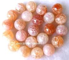 8mm 10mm 12mm 14mm 16mm Natural Crackle Agate Round Beads 15''