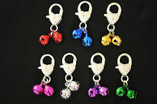 Clip On Coloured Jingle Bell Pet Dog Cat Collar Charm (Pick Your Colour)