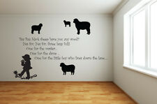 BAA BAA BLACK SHEEP Nursery Rhyme Vinyl Wall Art - Various Colours & Sizes