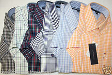 New TOMMY HILFIGER Men's Plaid Casual Shirt Short Sleeve, S,M,L,XL, NWT