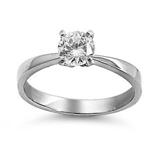 316L Stainless Steel Ring  with Clear CZ - Size: 5 ,6,8