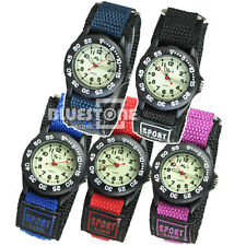 New Nylon Band Girl Ladies boy Children Kids Digital Sports Watch 5 colors
